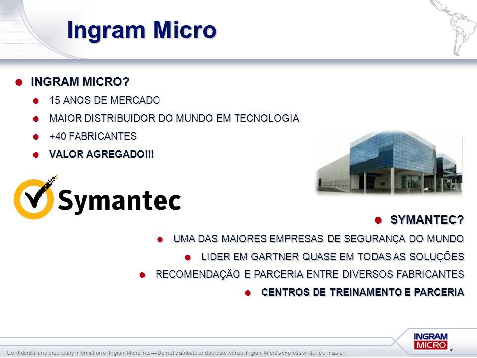 Ingram Micro INGRAM MICRO SYMANTEC 15 ANOS DE MERCADO