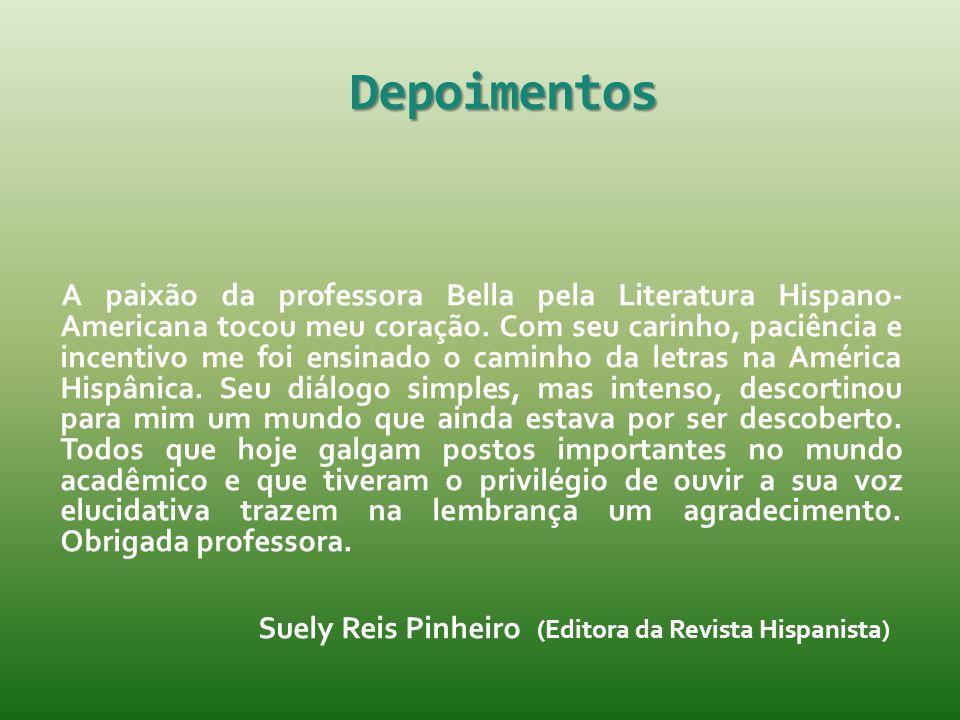 Depoimentos Suely Reis Pinheiro (Editora da Revista Hispanista)