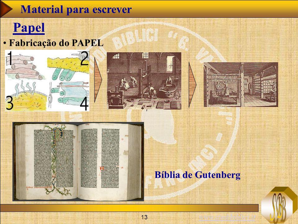 Papel Material para escrever Fabricação do PAPEL Bíblia de Gutenberg