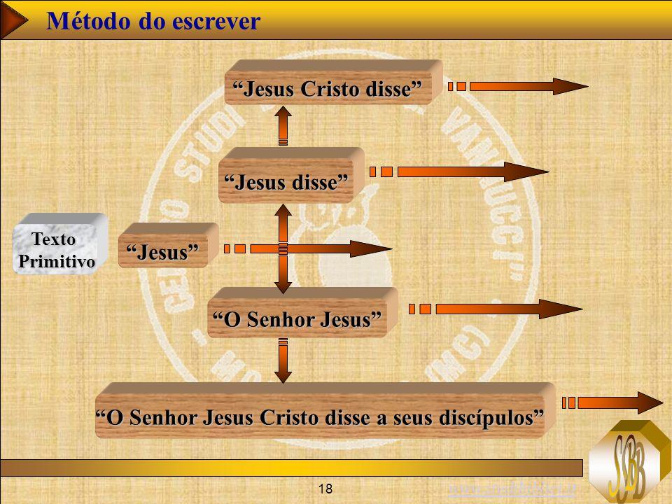 O Senhor Jesus Cristo disse a seus discípulos