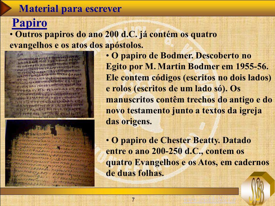 Papiro Material para escrever