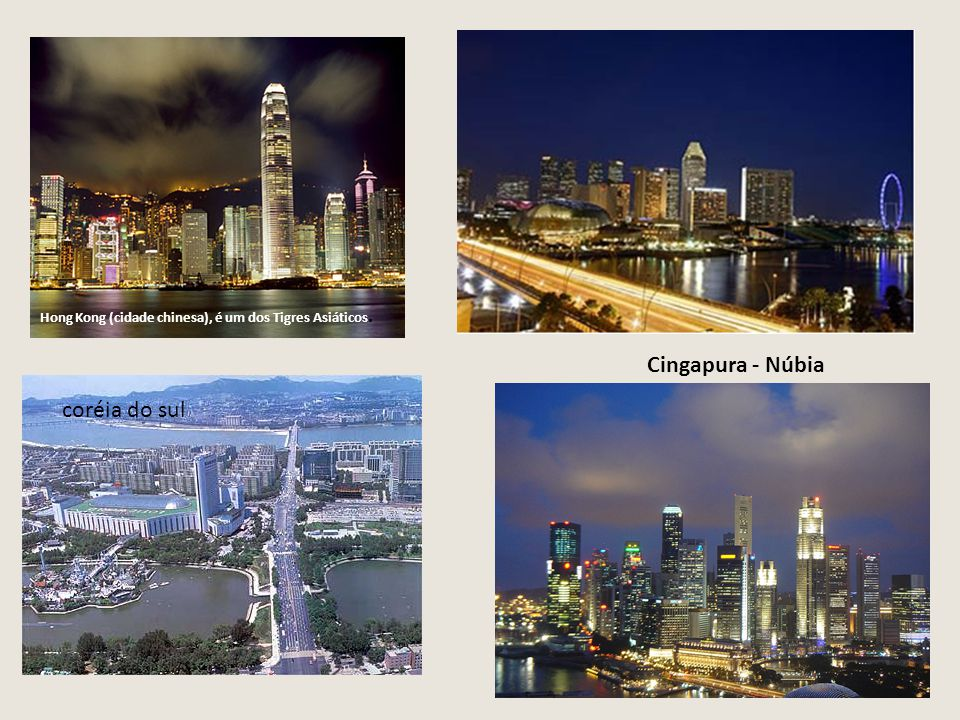 Cingapura - Núbia coréia do sul