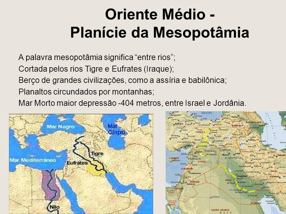 Oriente Médio - Planície da Mesopotâmia