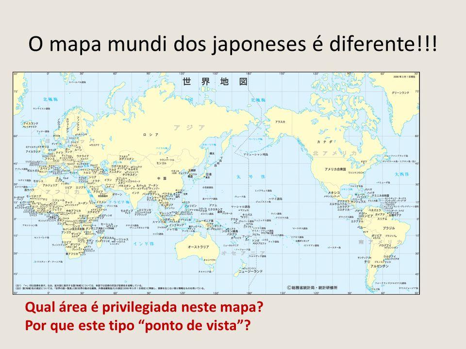 O mapa mundi dos japoneses é diferente!!!