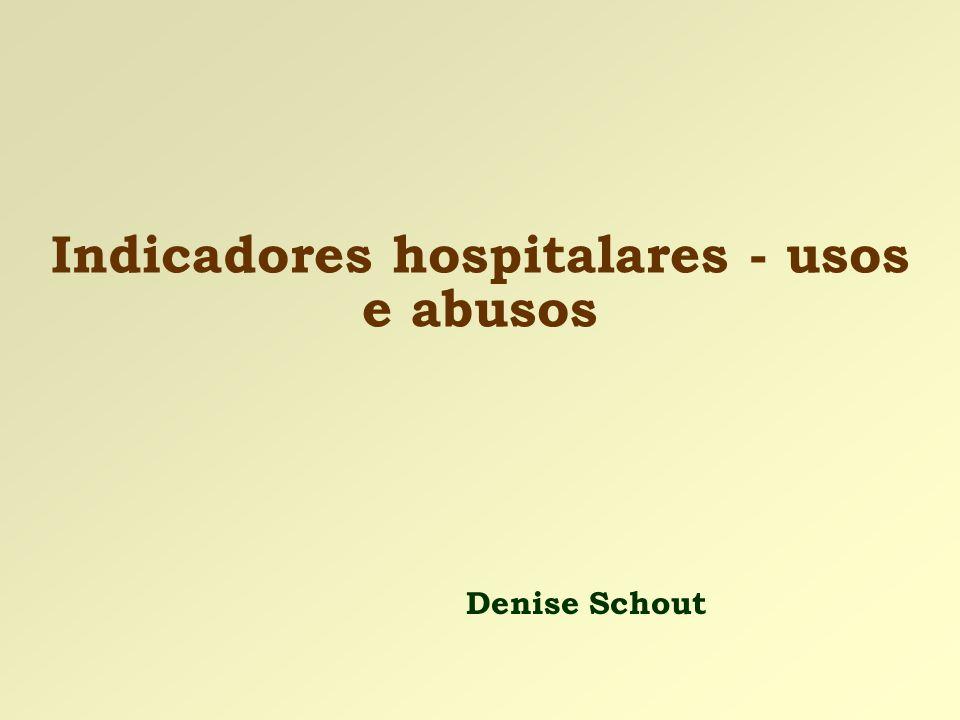 Indicadores hospitalares - usos e abusos