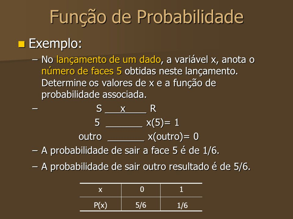 Função de Probabilidade