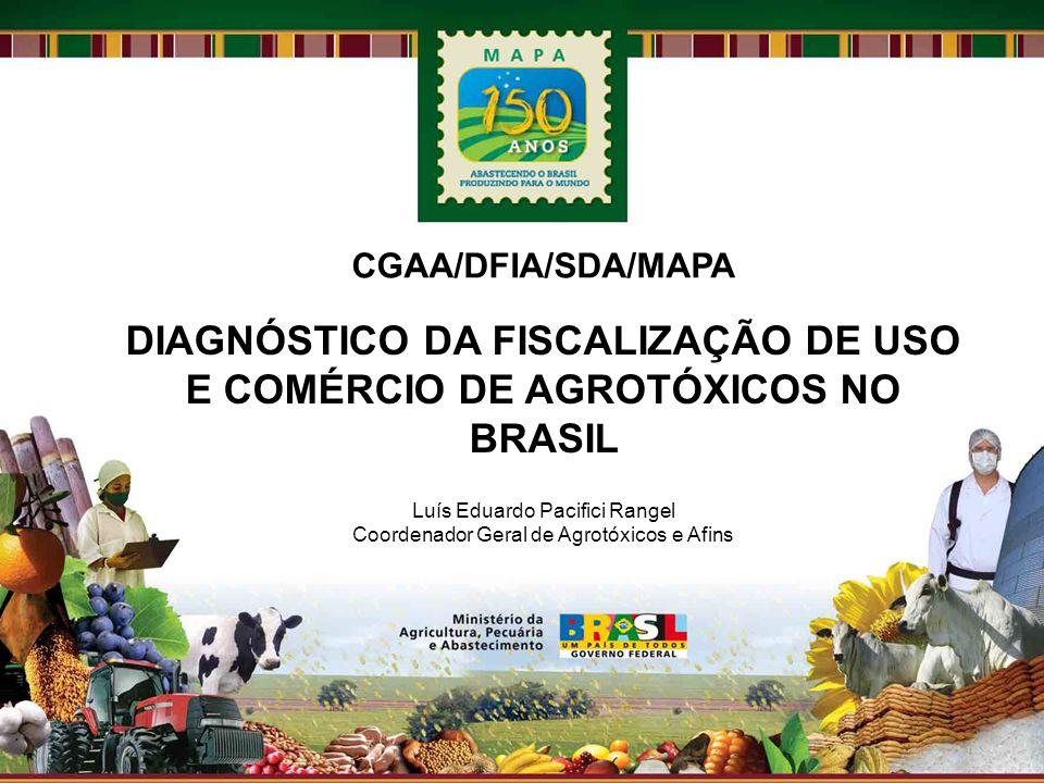 DIAGNÓSTICO DA FISCALIZAÇÃO DE USO E COMÉRCIO DE AGROTÓXICOS NO BRASIL