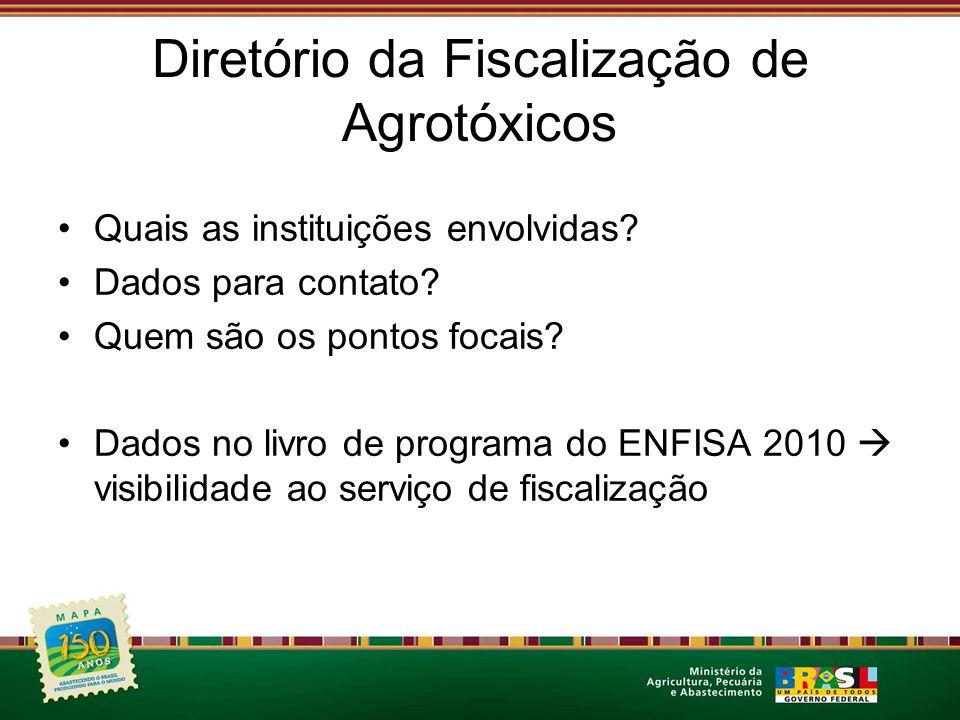 Diretório da Fiscalização de Agrotóxicos