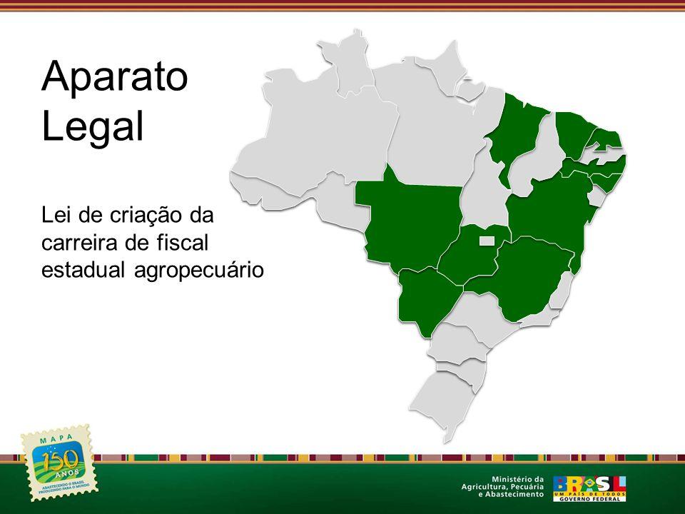 Aparato Legal Lei de criação da carreira de fiscal estadual agropecuário