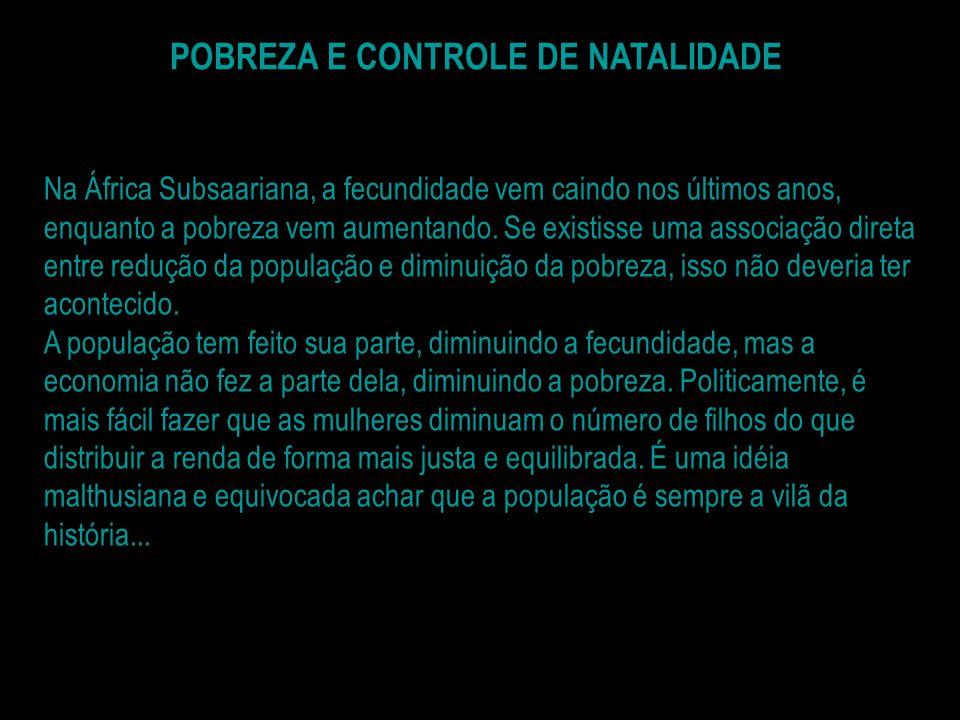 POBREZA E CONTROLE DE NATALIDADE