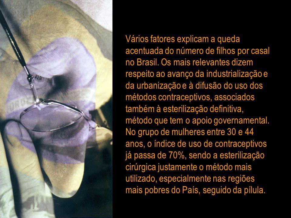 Vários fatores explicam a queda acentuada do número de filhos por casal no Brasil.