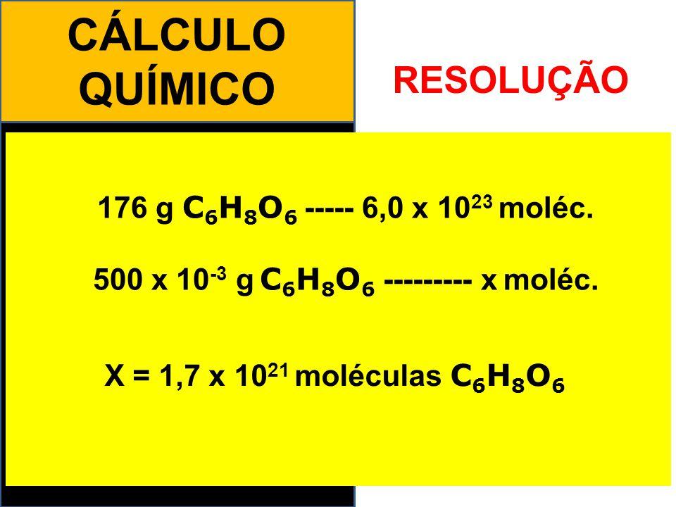 500 x 10-3 g C6H8O6 --------- x moléc.