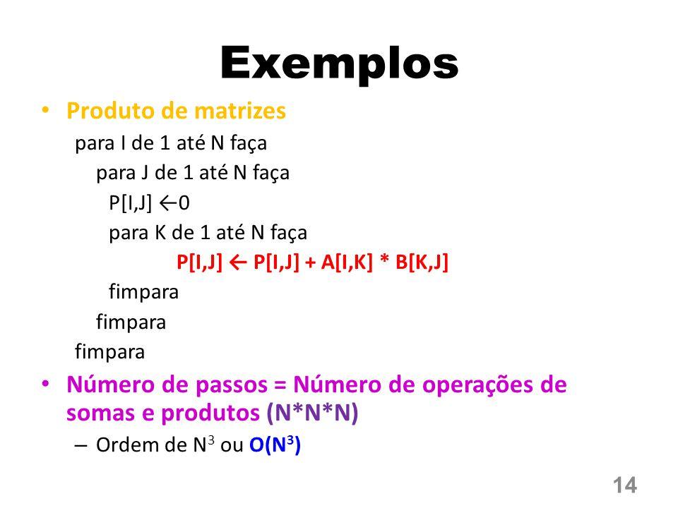 Exemplos Produto de matrizes
