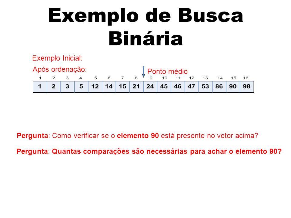 Exemplo de Busca Binária