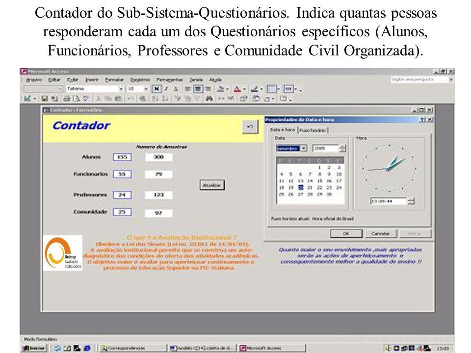 Contador do Sub-Sistema-Questionários