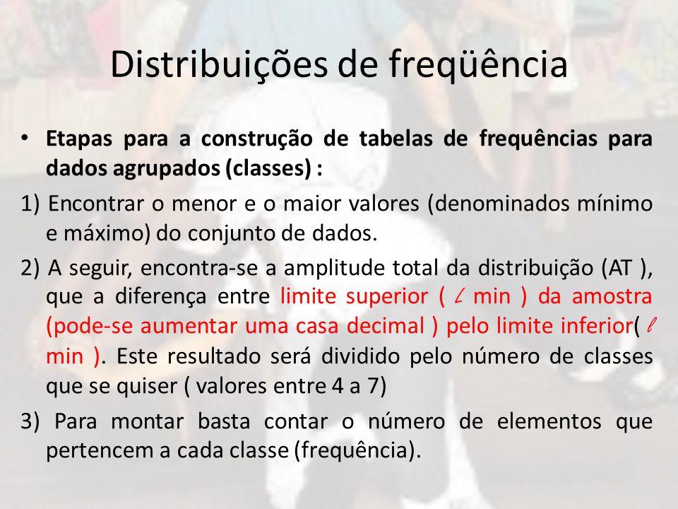 Distribuições de freqüência