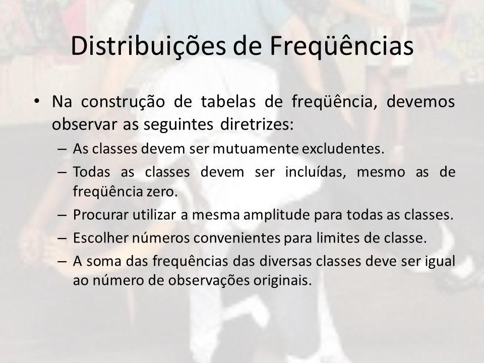 Distribuições de Freqüências