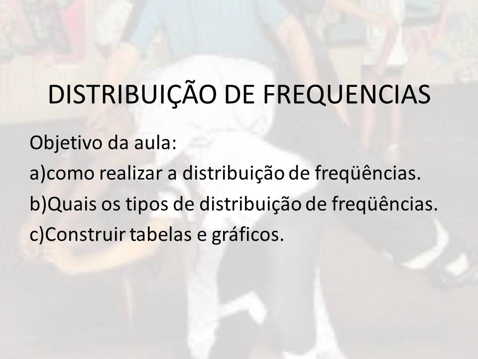 DISTRIBUIÇÃO DE FREQUENCIAS