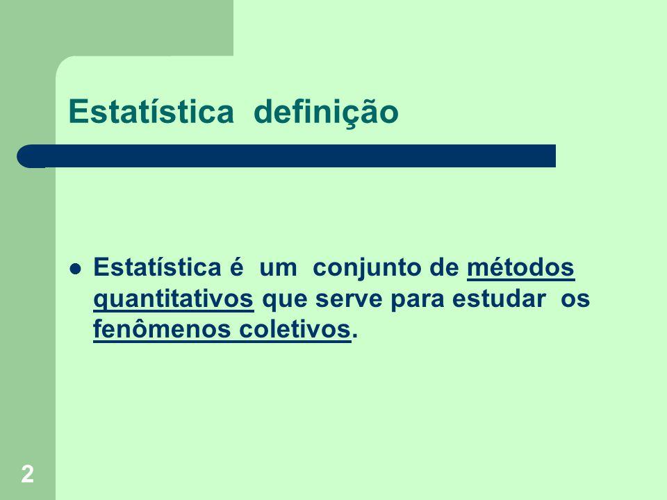 Estatística definição