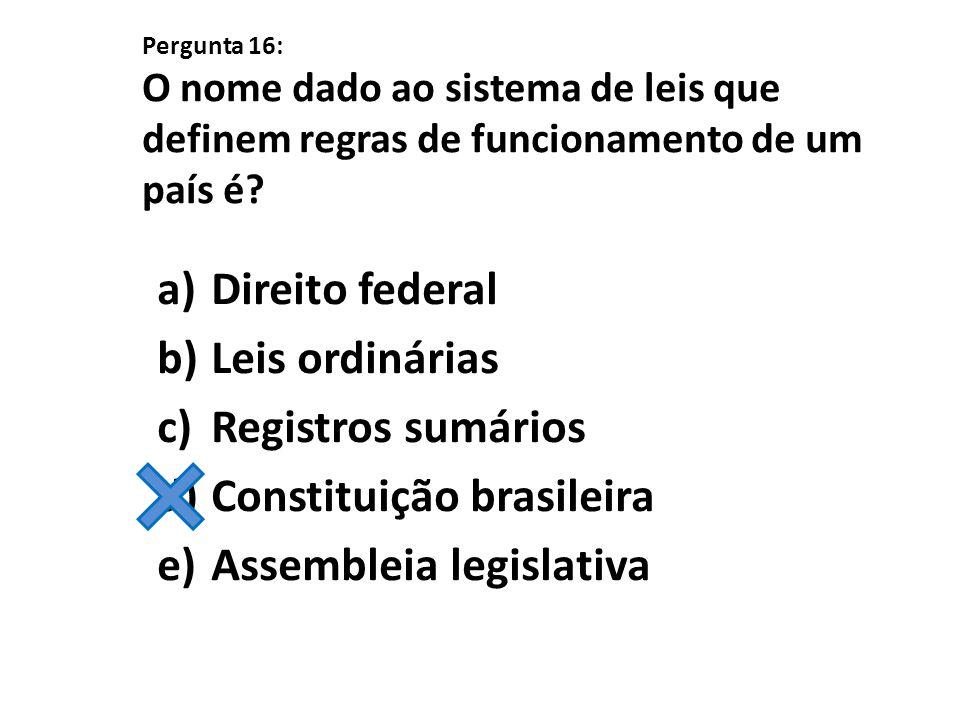 Constituição brasileira Assembleia legislativa