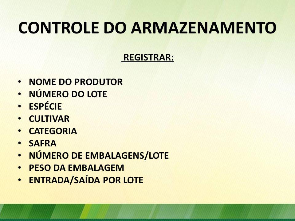 CONTROLE DO ARMAZENAMENTO
