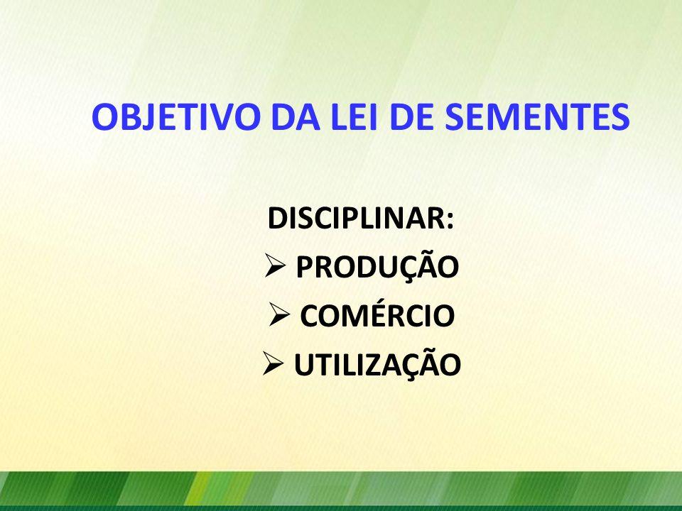 OBJETIVO DA LEI DE SEMENTES