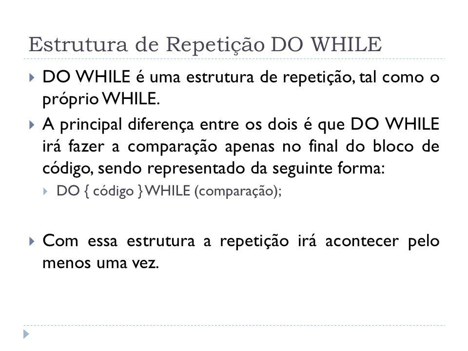Estrutura de Repetição DO WHILE