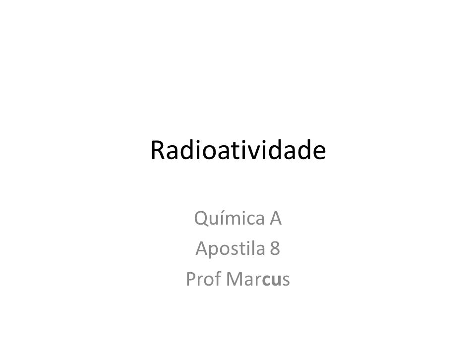 Química A Apostila 8 Prof Marcus