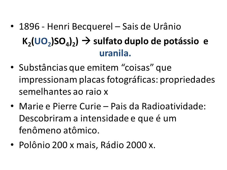 K2(UO2)SO4)2)  sulfato duplo de potássio e uranila.
