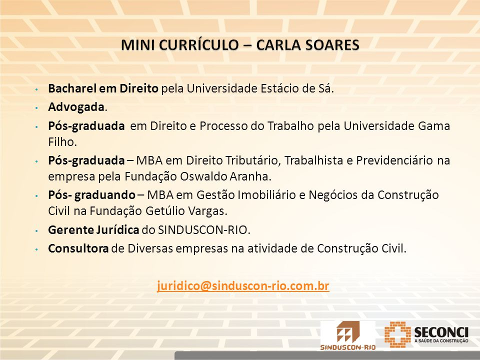 MINI CURRÍCULO – CARLA SOARES
