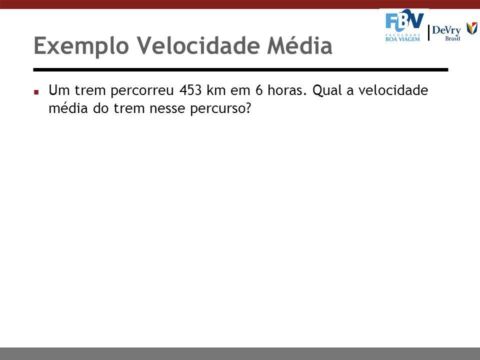 Exemplo Velocidade Média