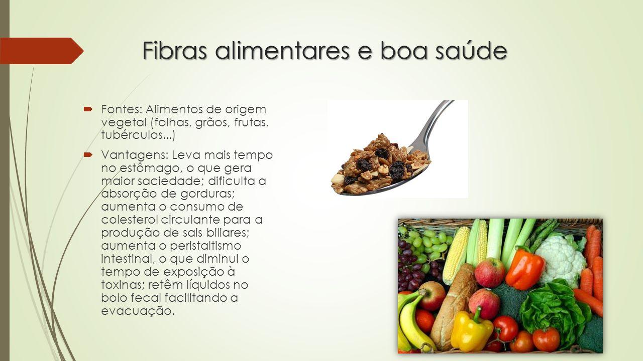 Fibras alimentares e boa saúde
