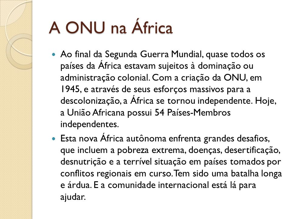 A ONU na África