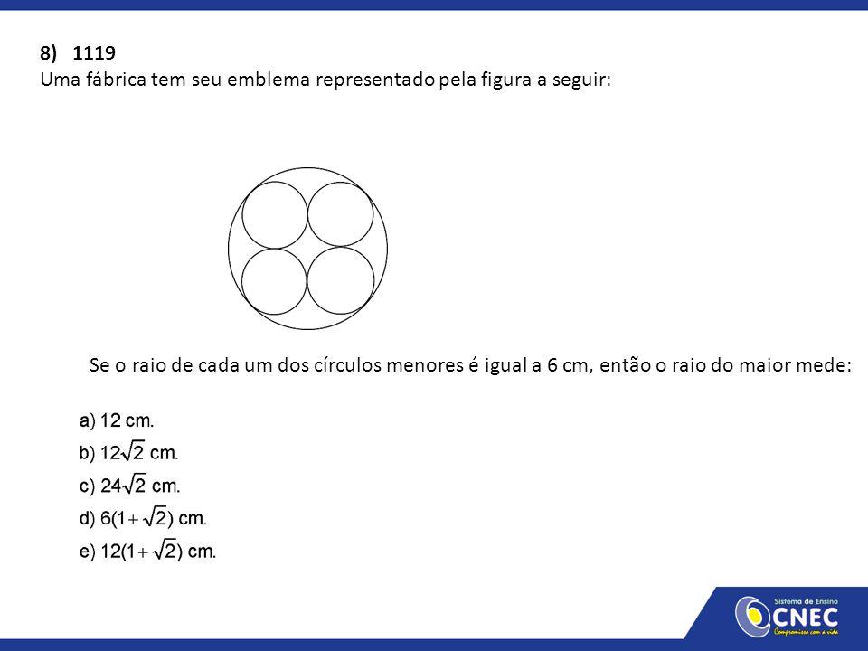 8) 1119 Uma fábrica tem seu emblema representado pela figura a seguir: