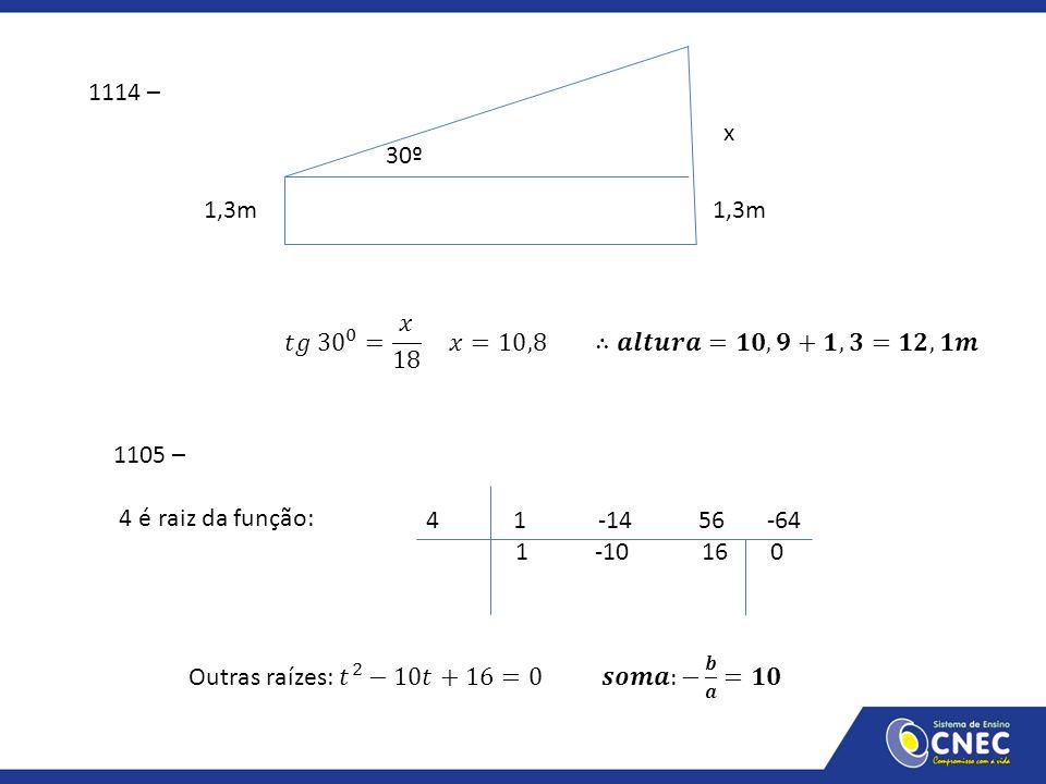1114 – x. 30º. 1,3m 1,3m.
