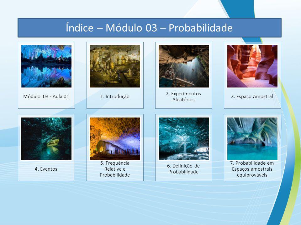 Índice – Módulo 03 – Probabilidade