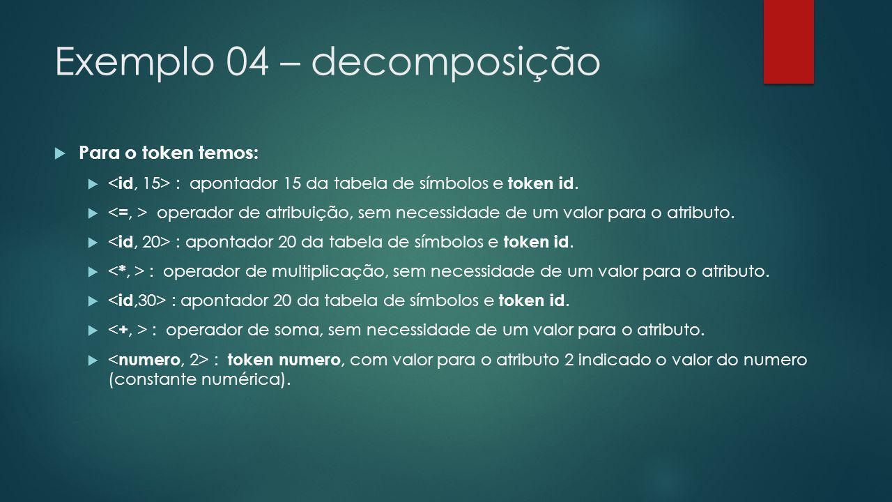 Exemplo 04 – decomposição