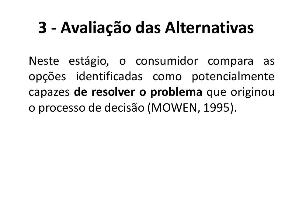 3 - Avaliação das Alternativas