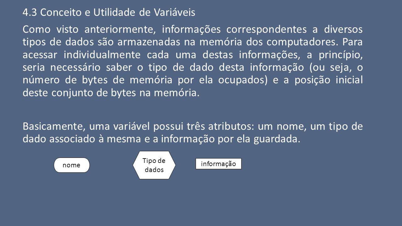 4.3 Conceito e Utilidade de Variáveis