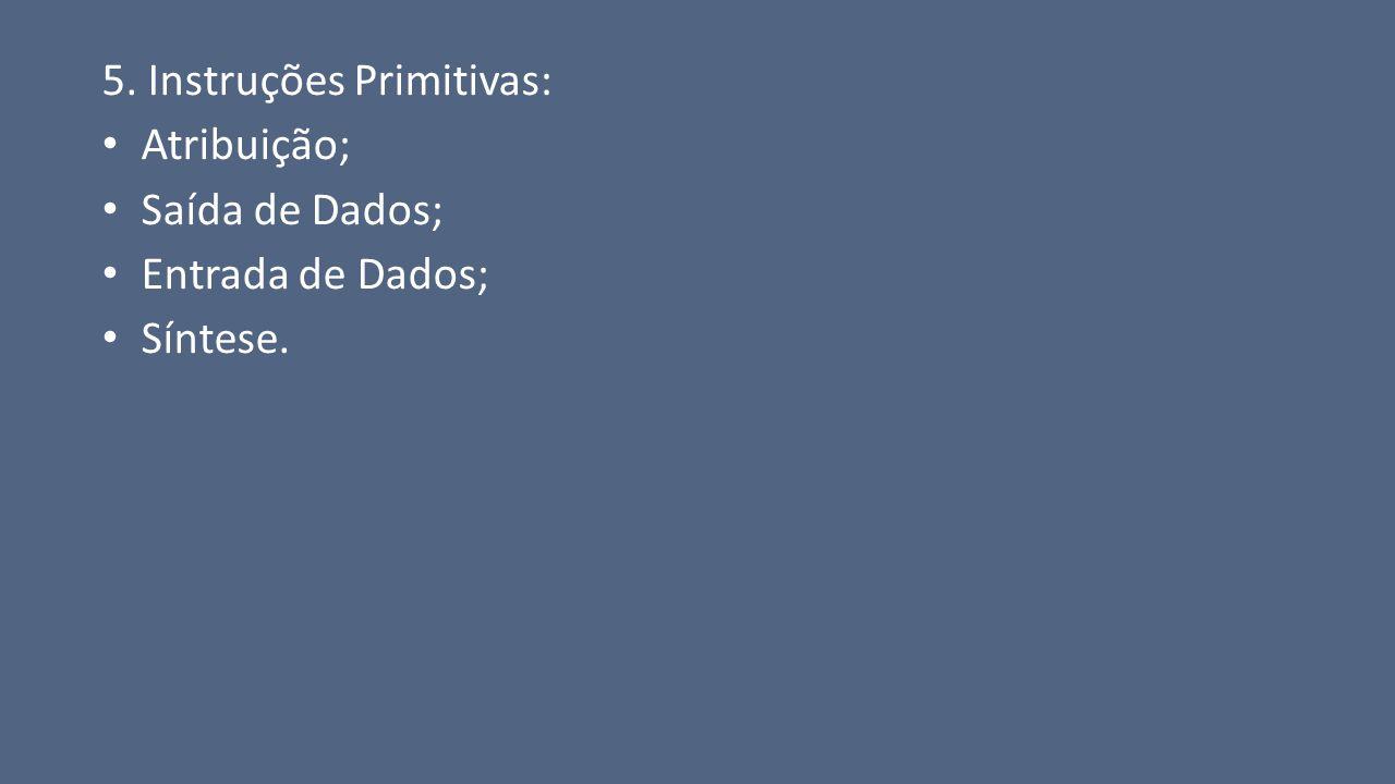 5. Instruções Primitivas: