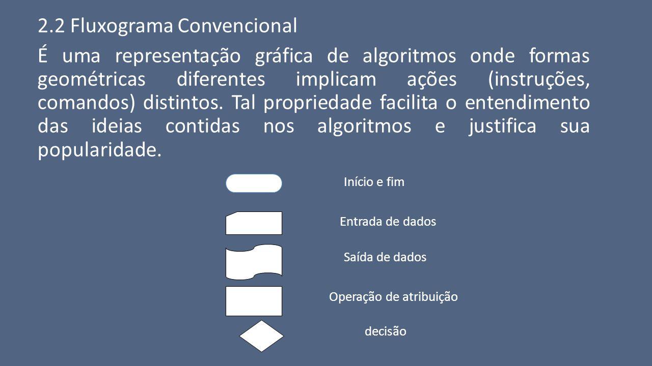 2.2 Fluxograma Convencional