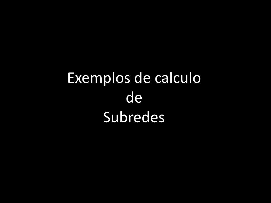 Exemplos de calculo de Subredes