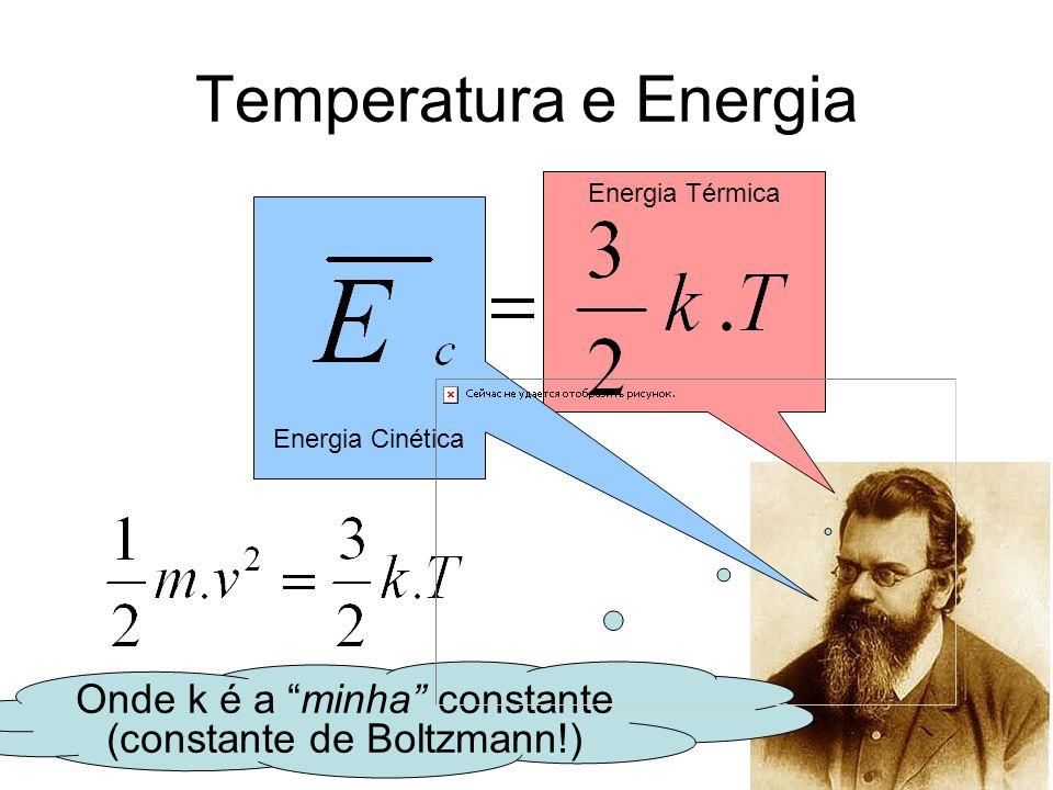 Onde k é a minha constante (constante de Boltzmann!)