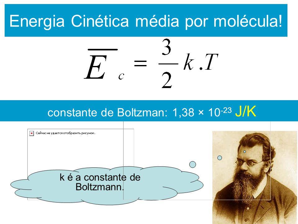 Energia Cinética média por molécula!