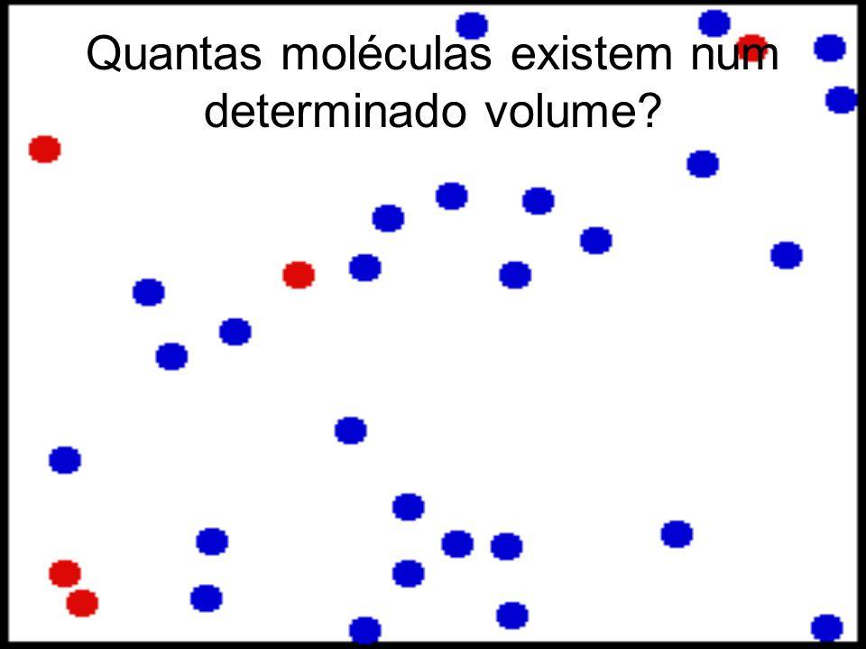 Quantas moléculas existem num determinado volume