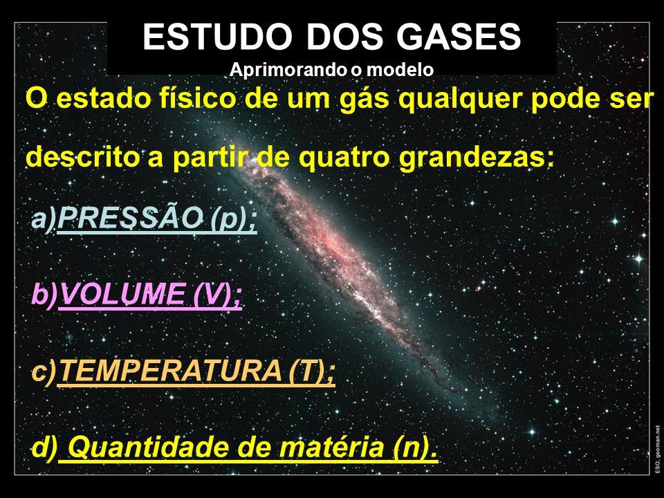 ESTUDO DOS GASES Aprimorando o modelo