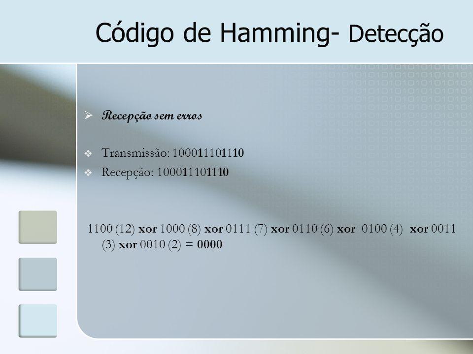 Código de Hamming- Detecção