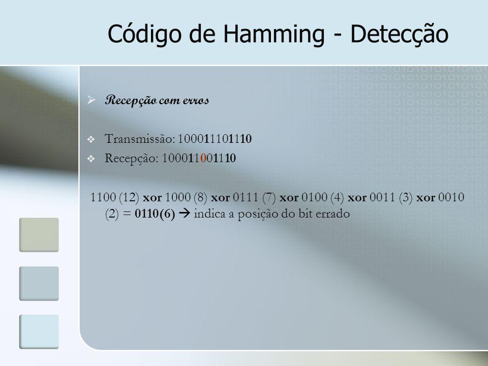 Código de Hamming - Detecção