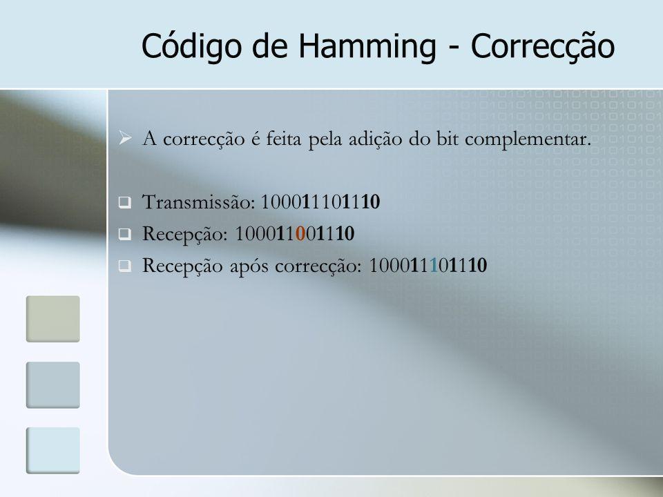Código de Hamming - Correcção