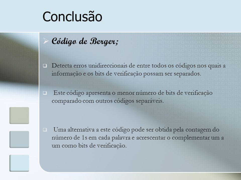 Conclusão Código de Berger;